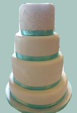 Lace & Ribbon Cake