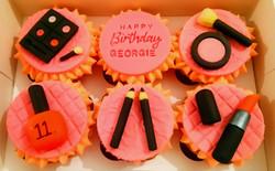 Birthday Girl Make Up Cupcakes