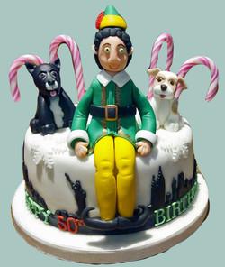 Elf in New York City Cake