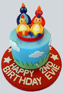 Twirlywoo Birthday Cake