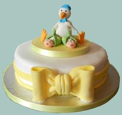 Gender Neutral Twins Baby Shower Cake