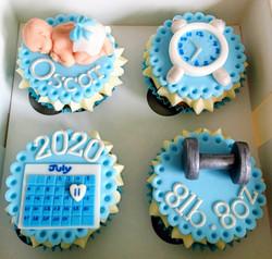 Baby Boy Arrival Cupcakes
