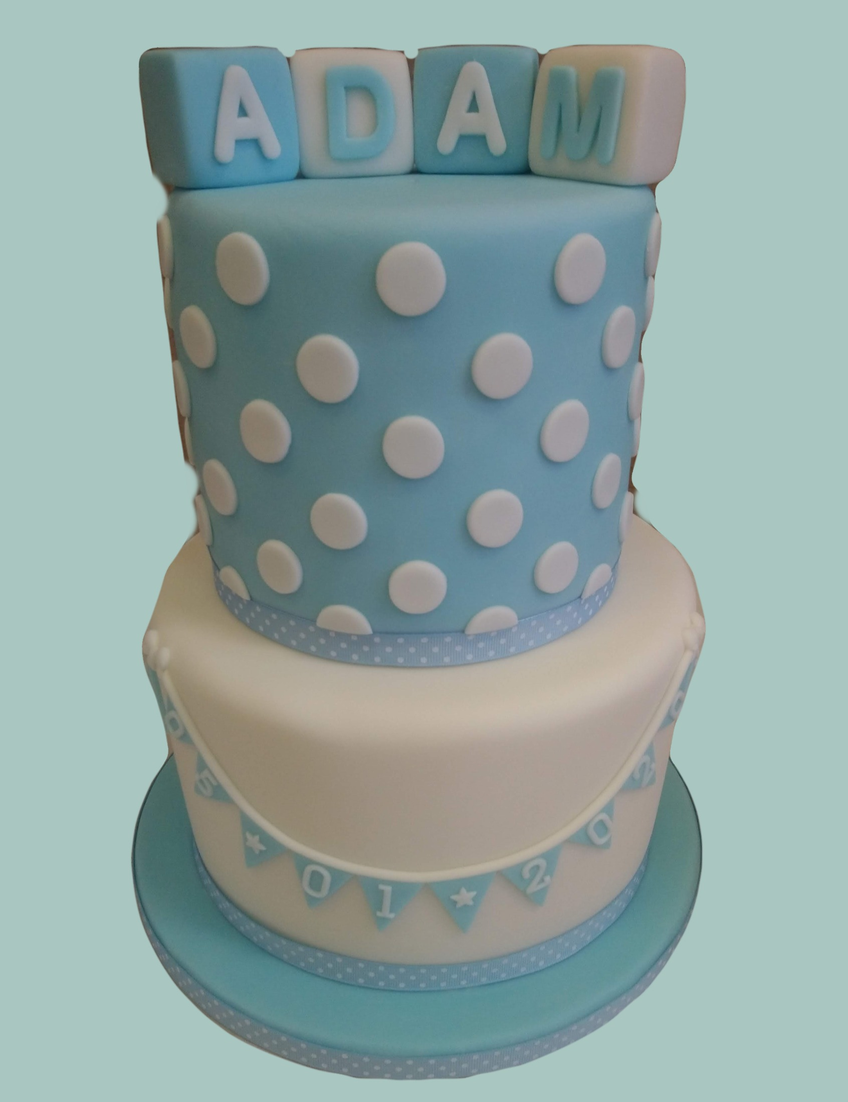Building Blocks Male Christening Cake