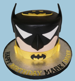 Batman Face Cake