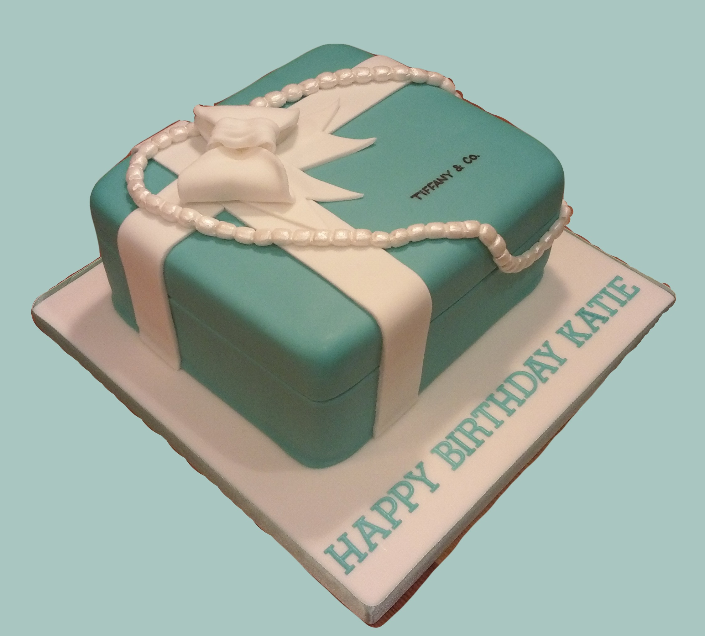 Tiffany Jewellery Box Cake