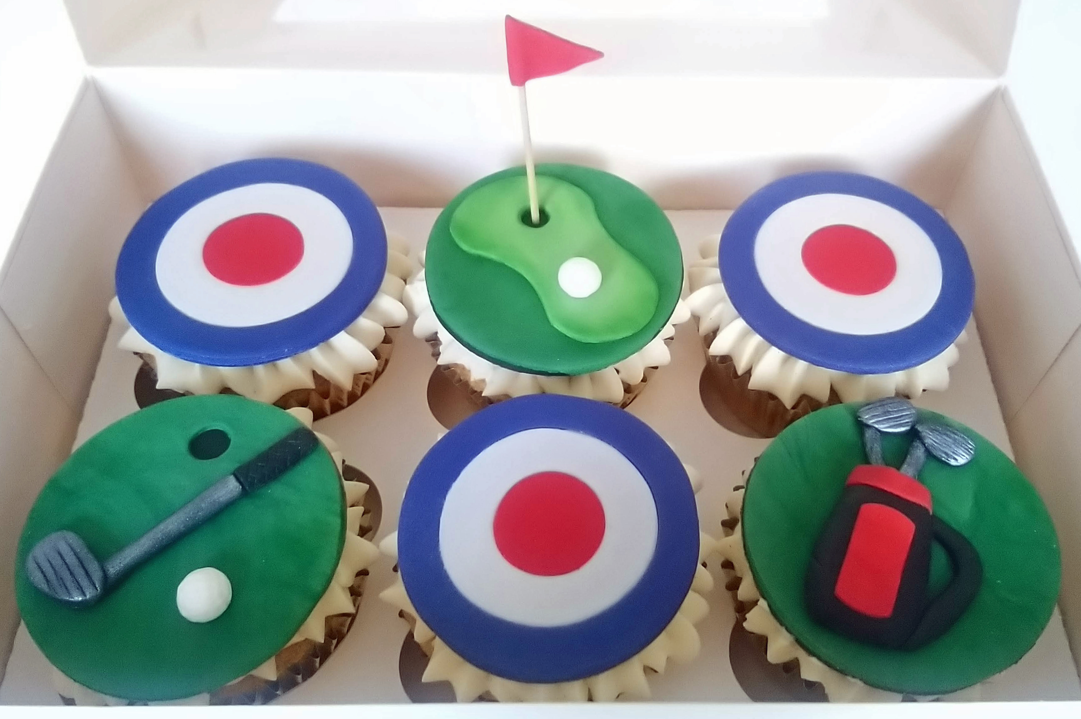 Golf and RAF Retirement Cupcakes