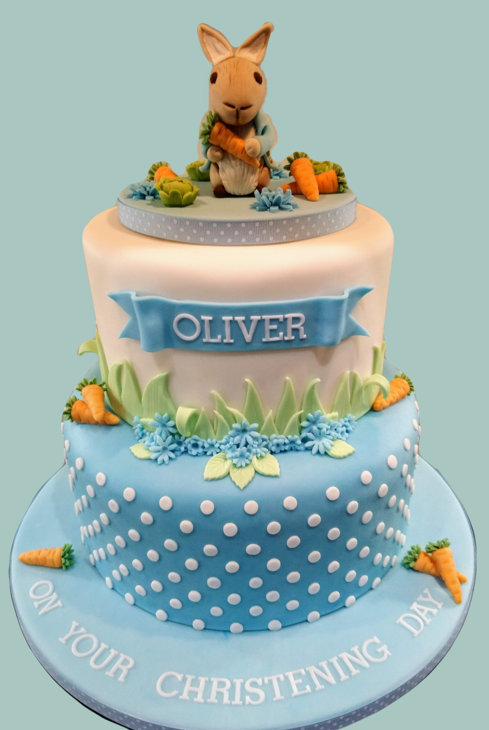 Peter Rabbit Male Christening Cake