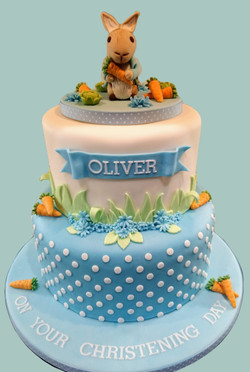 Peter Rabbit Male Christening Cake