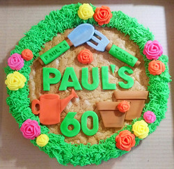 Gardening Themed 60th Birthday Giant Cookie