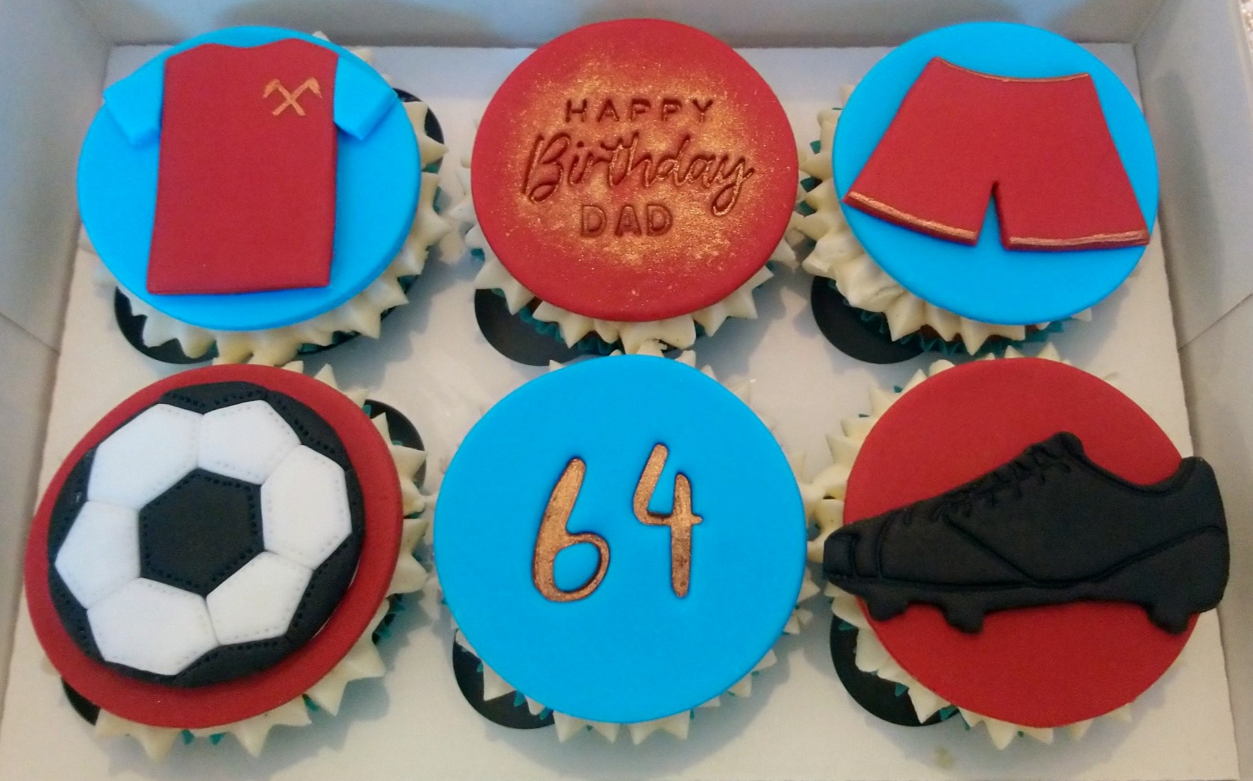 West Ham Football Birthday Cupcakes