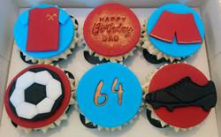 West Ham Football Birthday Cupcakes