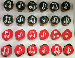 Beaded Music Note Cupcakes