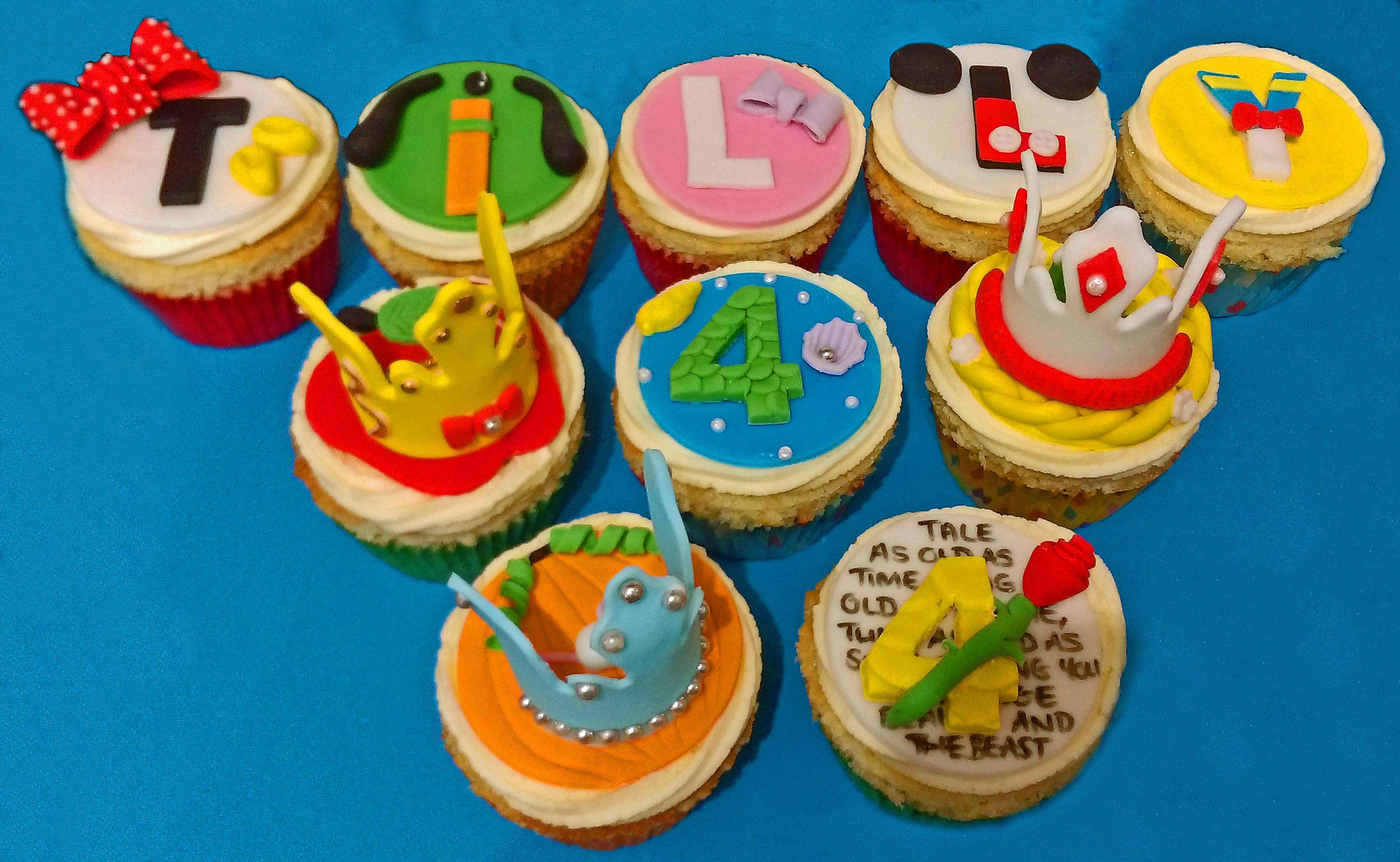 Disney Princess Birthday Cupcakes