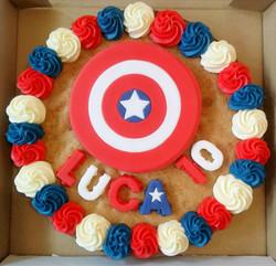 Captain America 10th Birthday Giant Cookie