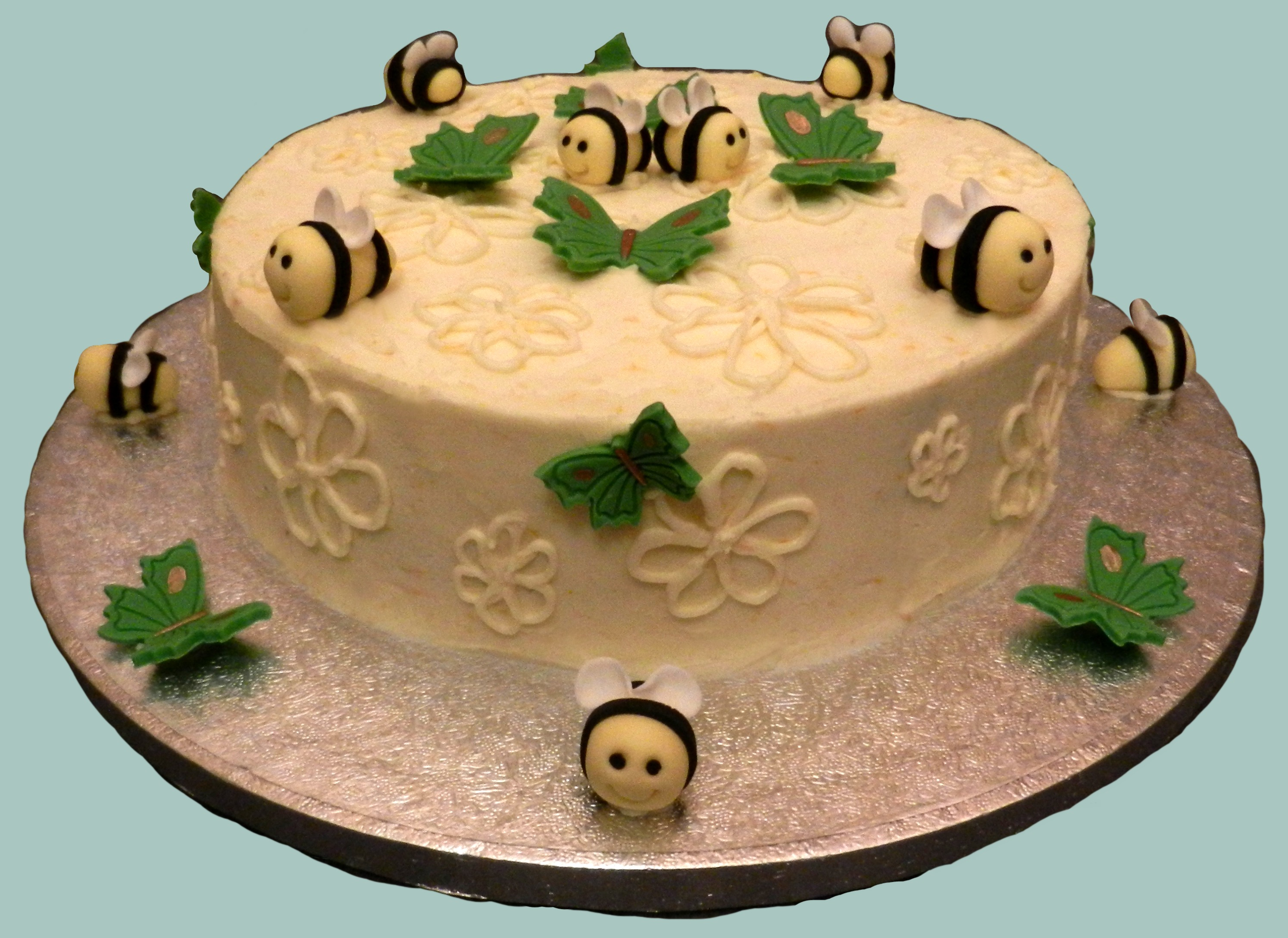 Butterfly & Bees Cake