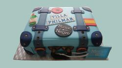 Holiday Suitcase Cake