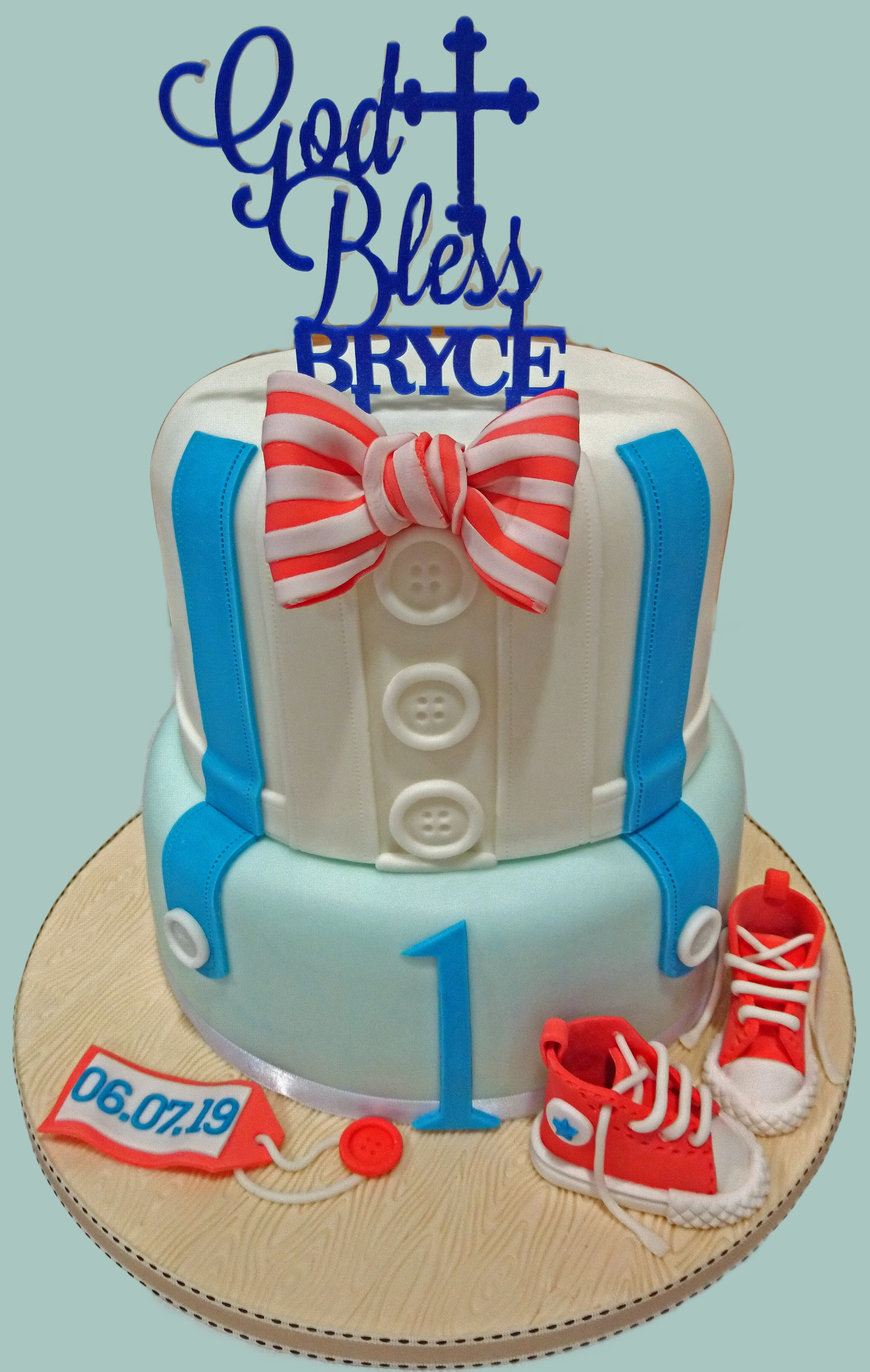 Boys Clothes Christening Cake