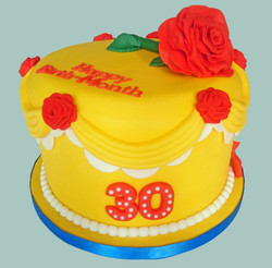 Beauty & The Beast Themed Cake