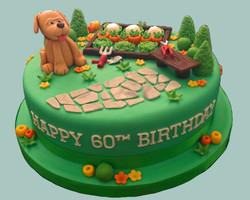 Dog In The Garden Cake