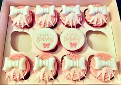 Bow Themed Cupcakes