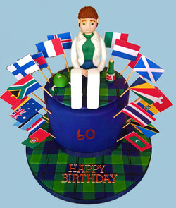 Well Travelled Scientist 60th Birthday Cake