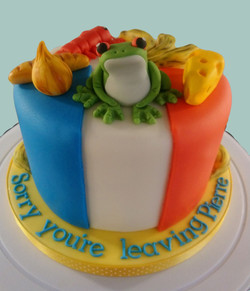 Dual Sided Cake: French / Family Guy