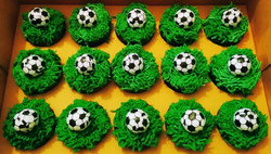 Mini Football Cupcakes