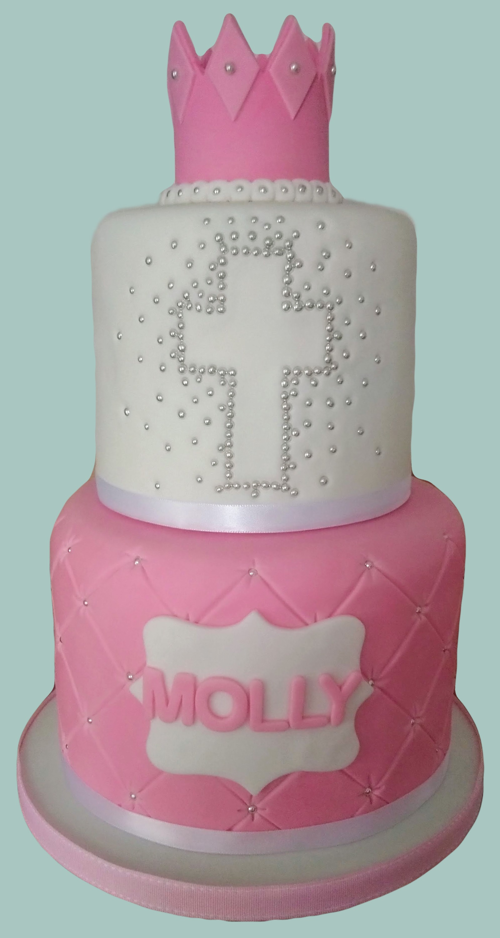 Religious Themed Female Christening Cake