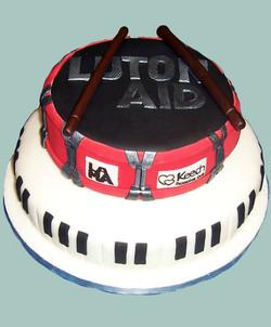Luton Aid Music Cake