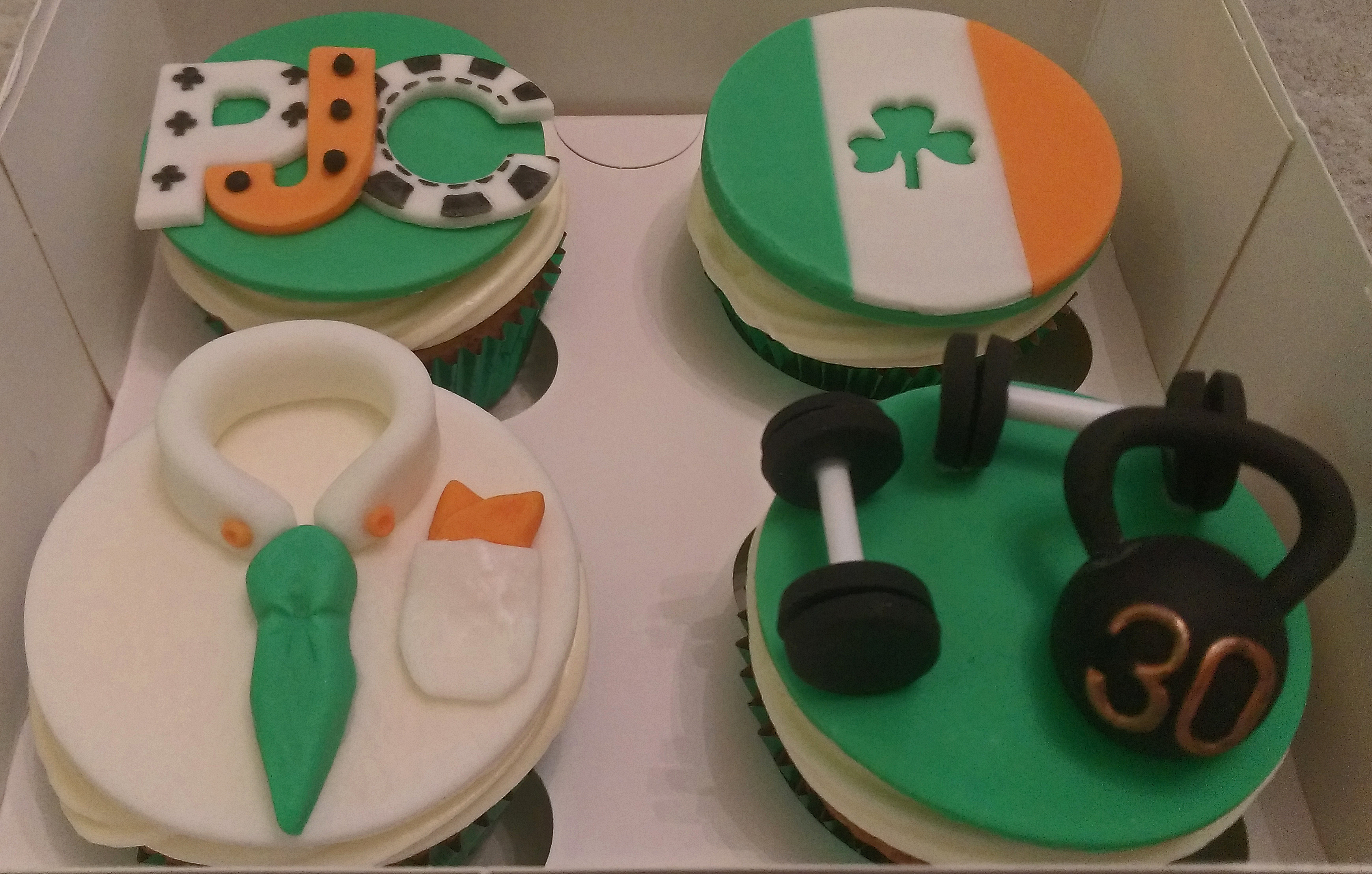 Irish Themed Birthday Cupcakes