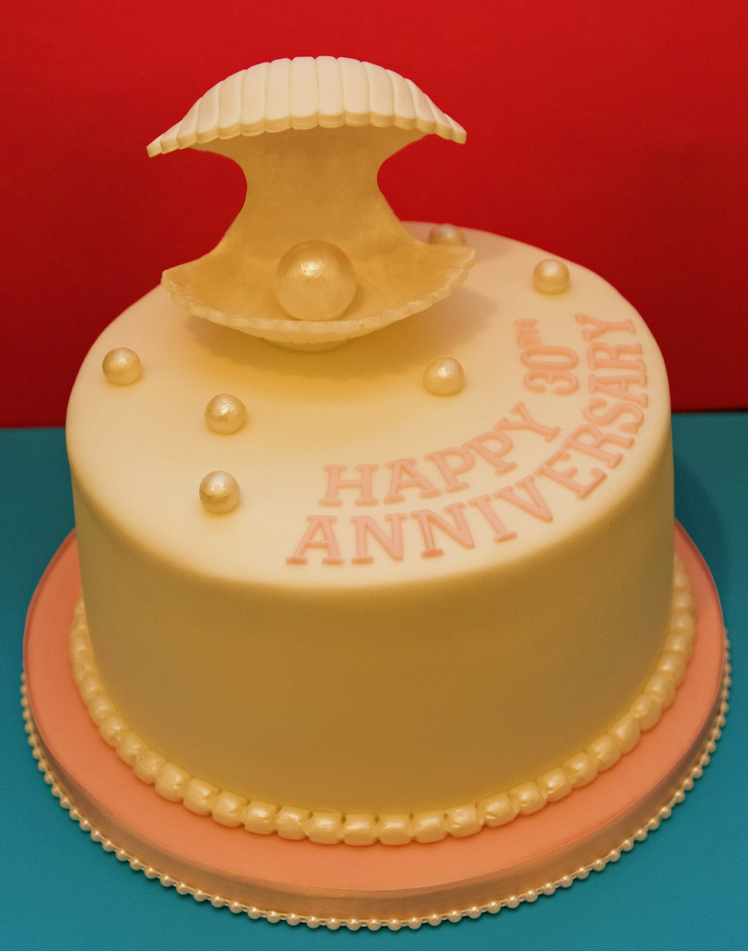 30th Pearl Anniversary Cake