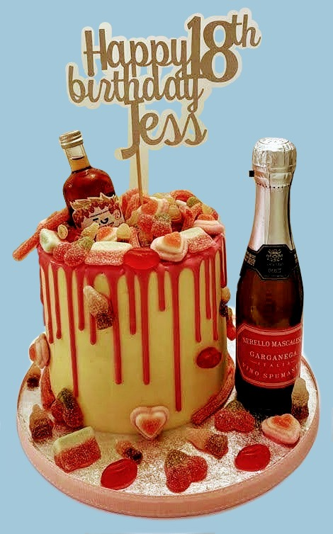 Sweeties and Alcohol Cake