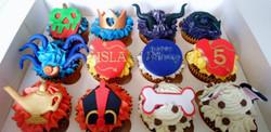 Disney's Descendants Birthday Cupcakes