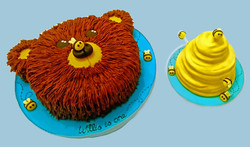 Bear & Bee Hive Cake