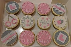 Hen Do / Bridal Shower Cupcakes - Pink & Grey