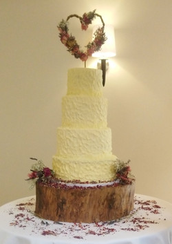 Rustic Buttercream & Dried Flower Cake