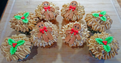 Gingerbread Men and Holly Cupcakes