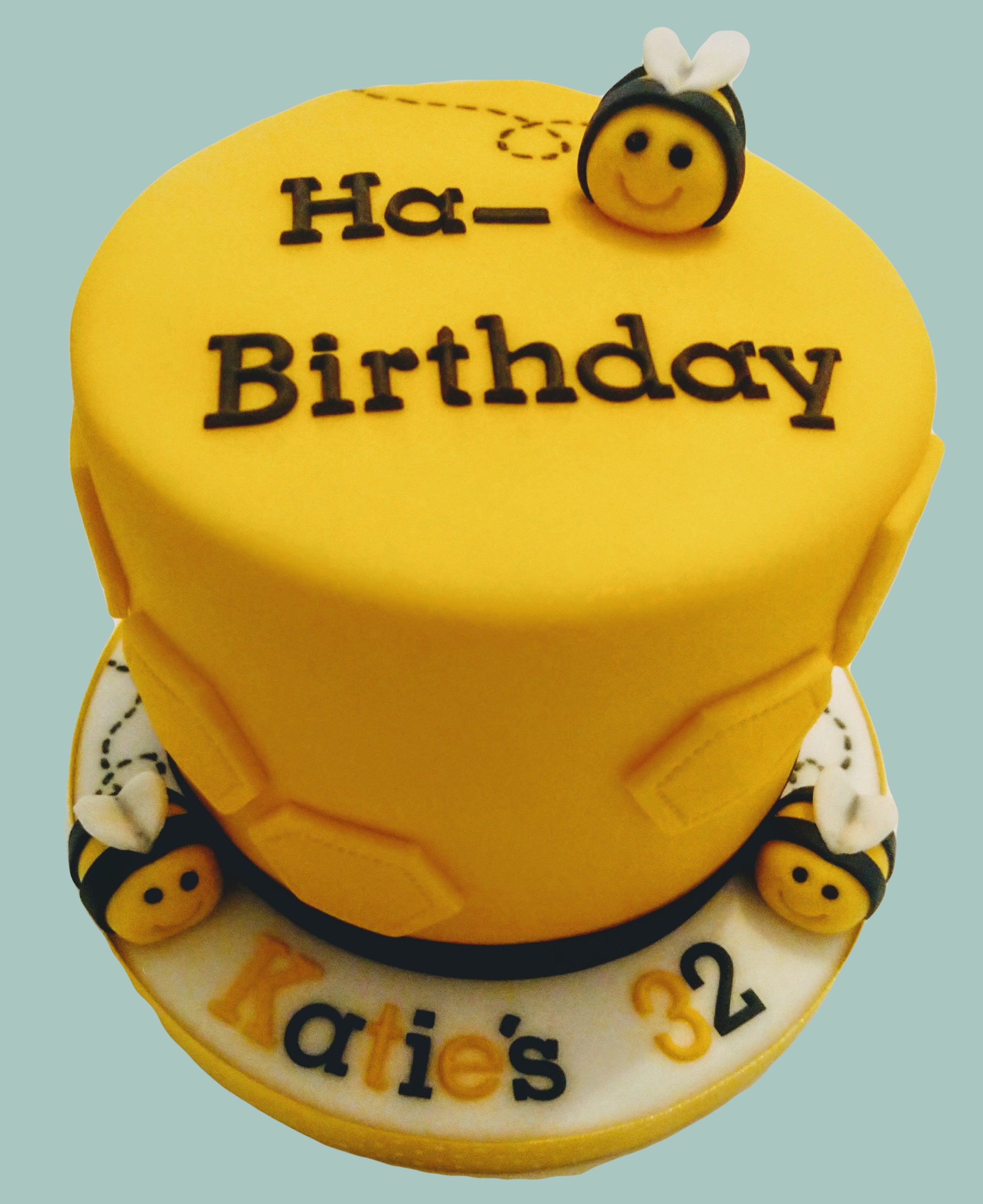 Ha-Bee Birthday Cake