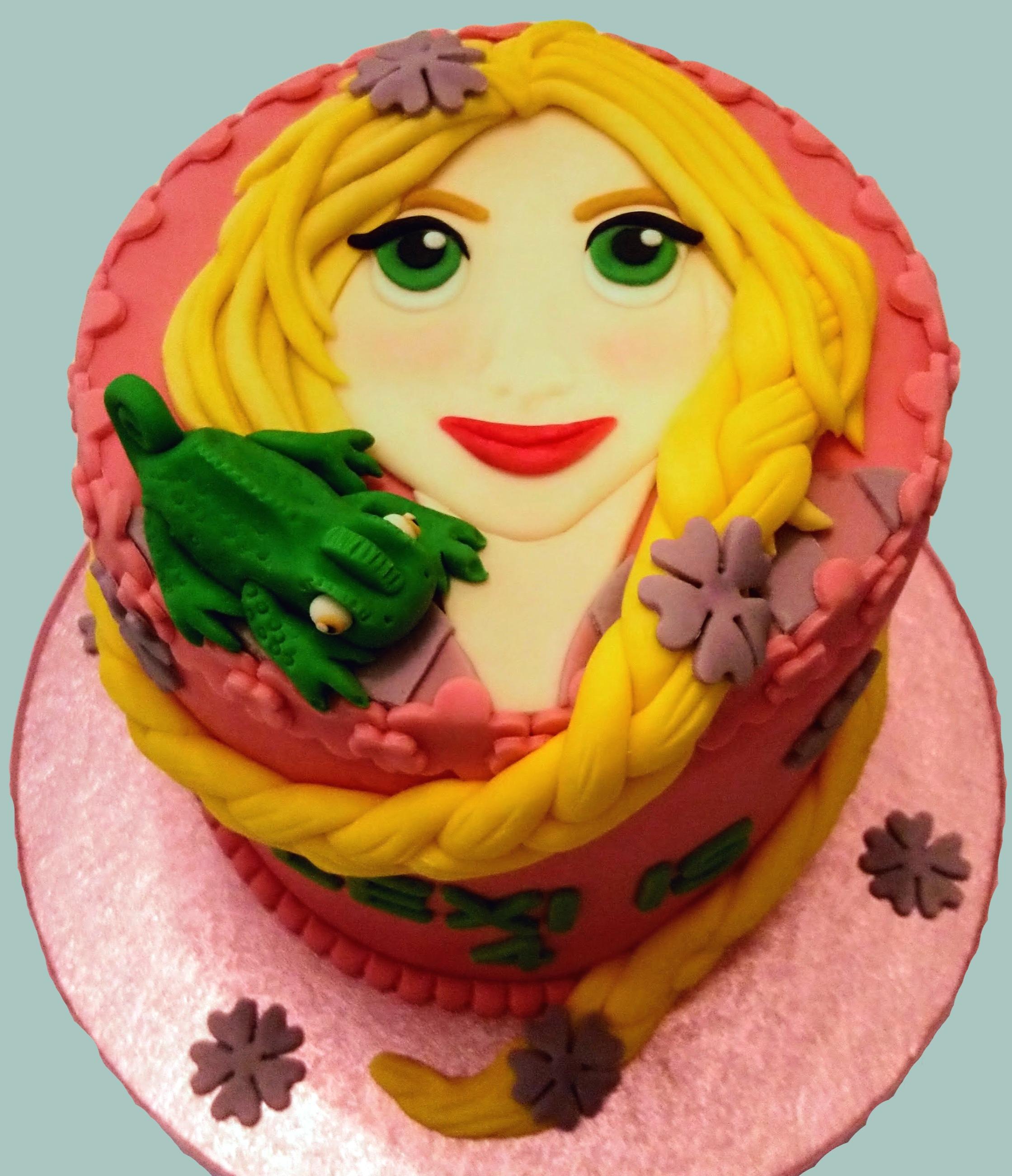 Rapunzel & Pascal Cake
