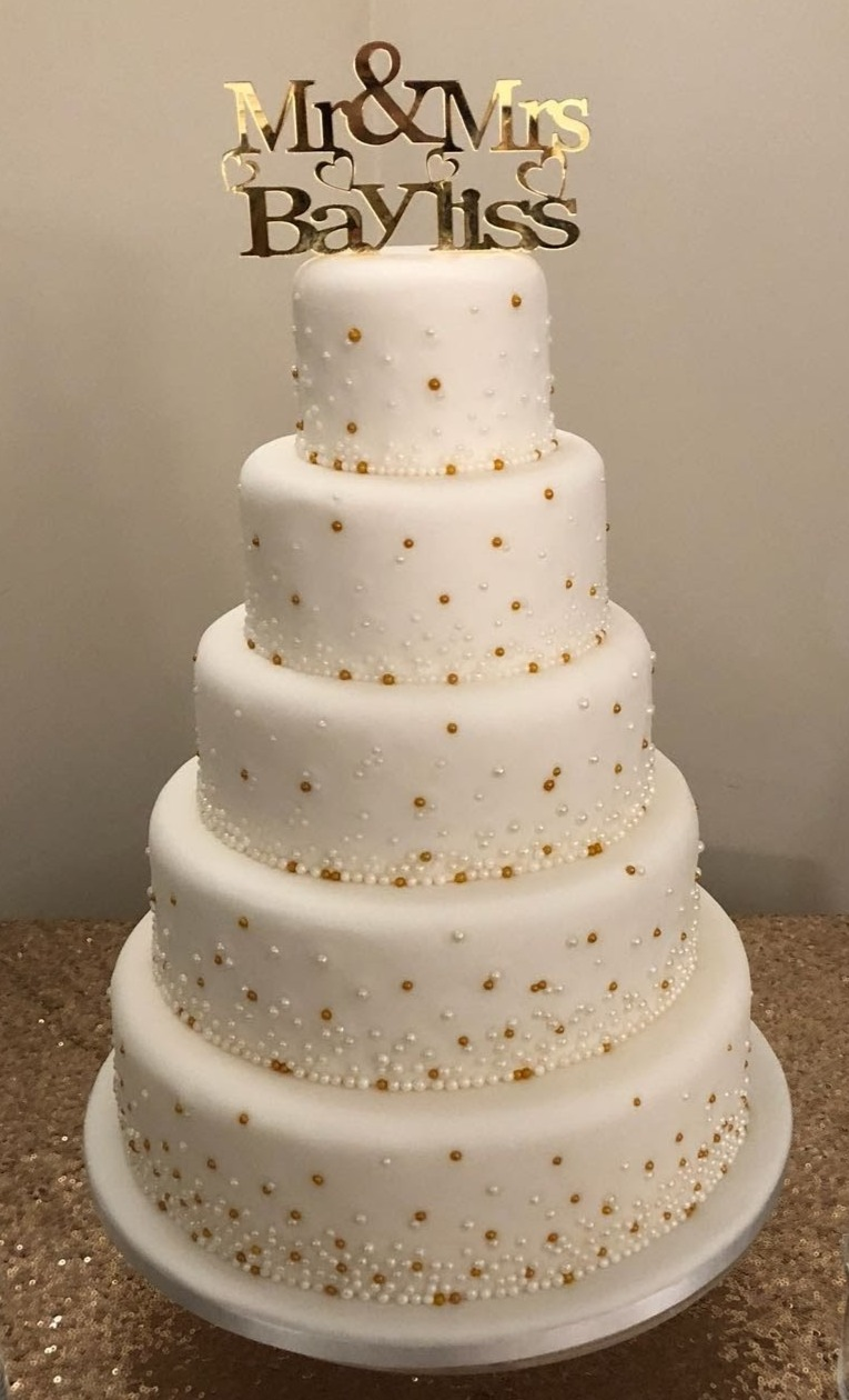 Gold & Silver Embellishment Cake