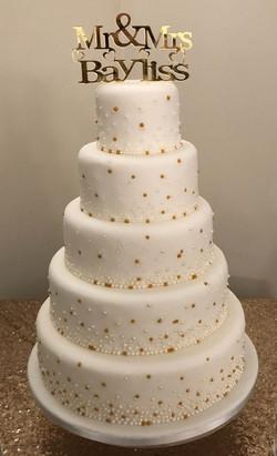 Gold & Silver Embellishment Cake