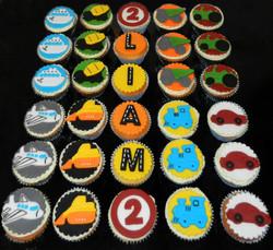 Transport Themed Birthday Cupcakes