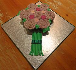 Cupcake Bunch Of Flowers