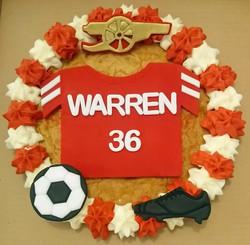 Arsenal Football Giant Cookie