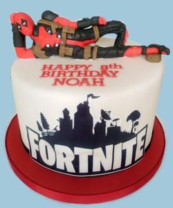 Deadpool/Fortnite Themed Cake