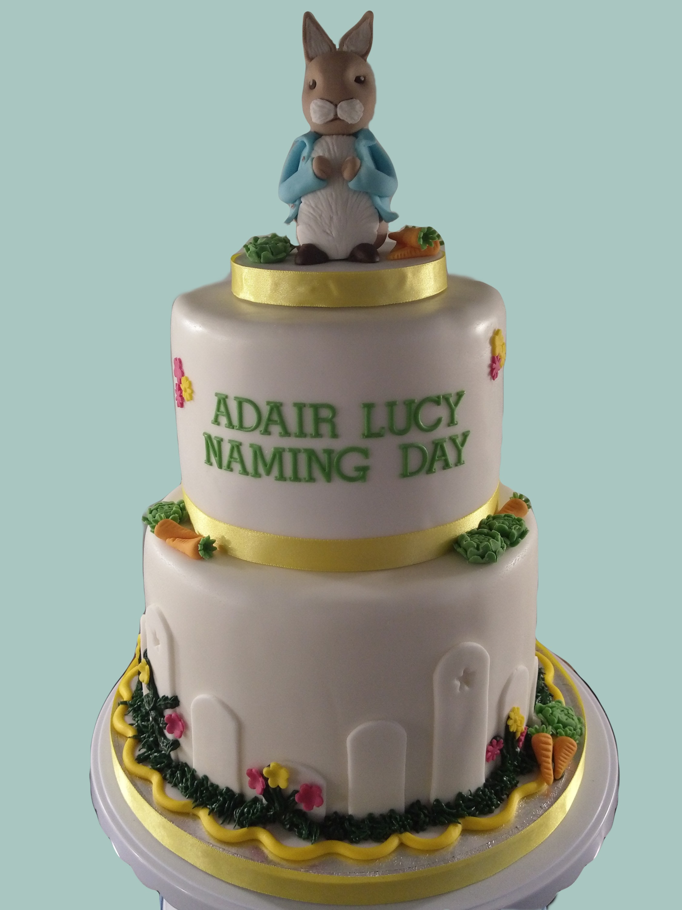 Peter Rabbit Female Naming Day Cake