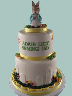 Peter Rabbit Female Naming Day Cake