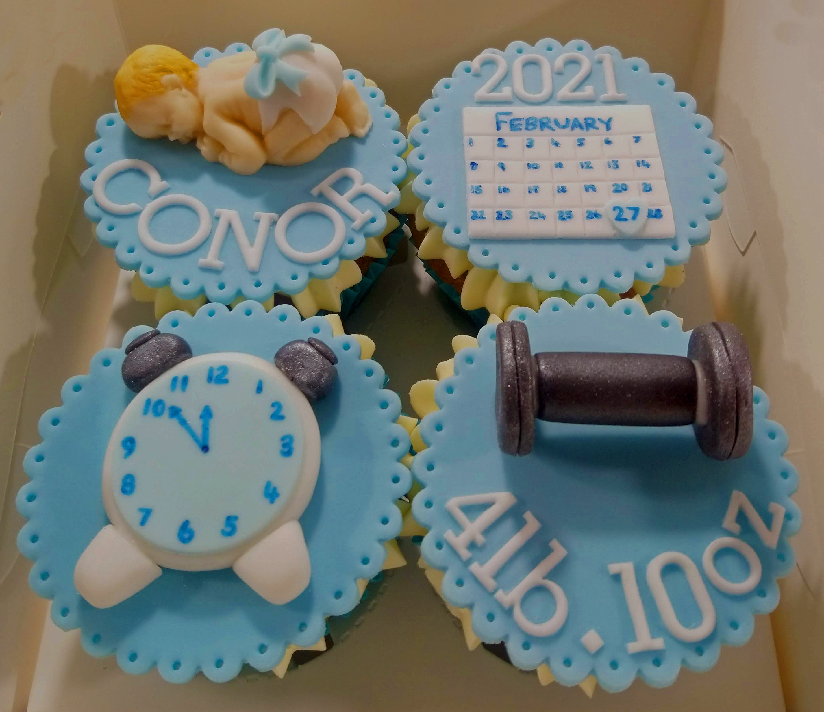 Baby Boy Arrival Cupcakes