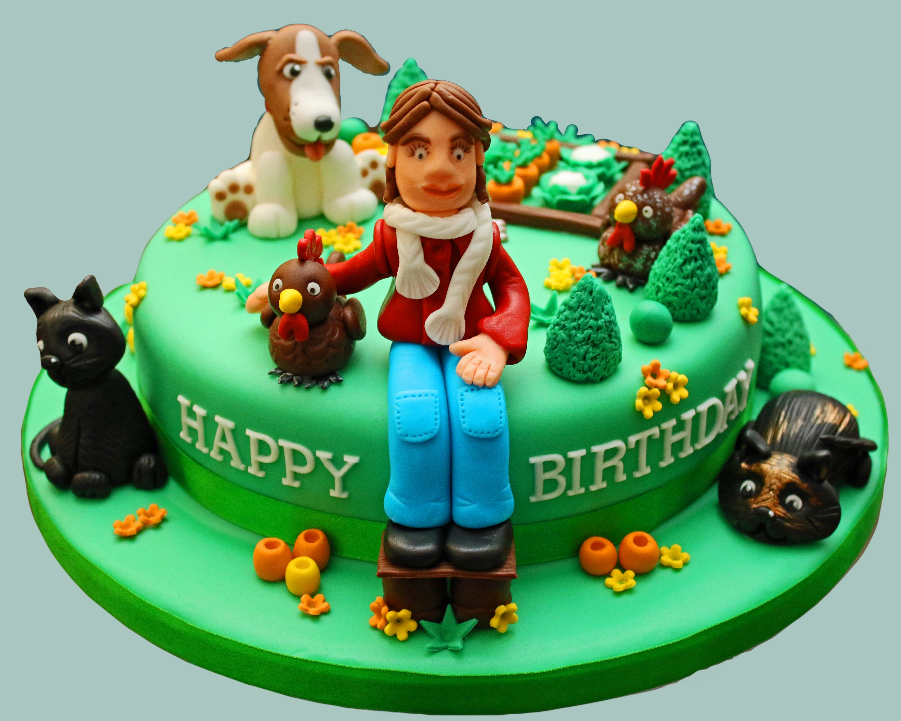 Animals In The Garden Cake