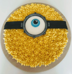 Minion Themed Giant Cookie